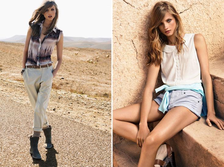 קולקציית קיץ 2012 של מנגו. הנוסחה לקיץ אופנתי בישראל: כמה שפחות בד, כמה שיותר שיק