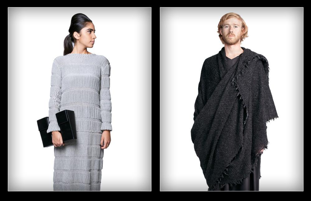 חזון ברור. פרויקט הגמר של אומרי שוחט הציג מראה שבטי-אורבני (מימין) והקולקציה של גלית שילה הציעה לנשים פריטי לבוש עכשוויים ויפים (צילום: הילה ווגמן)