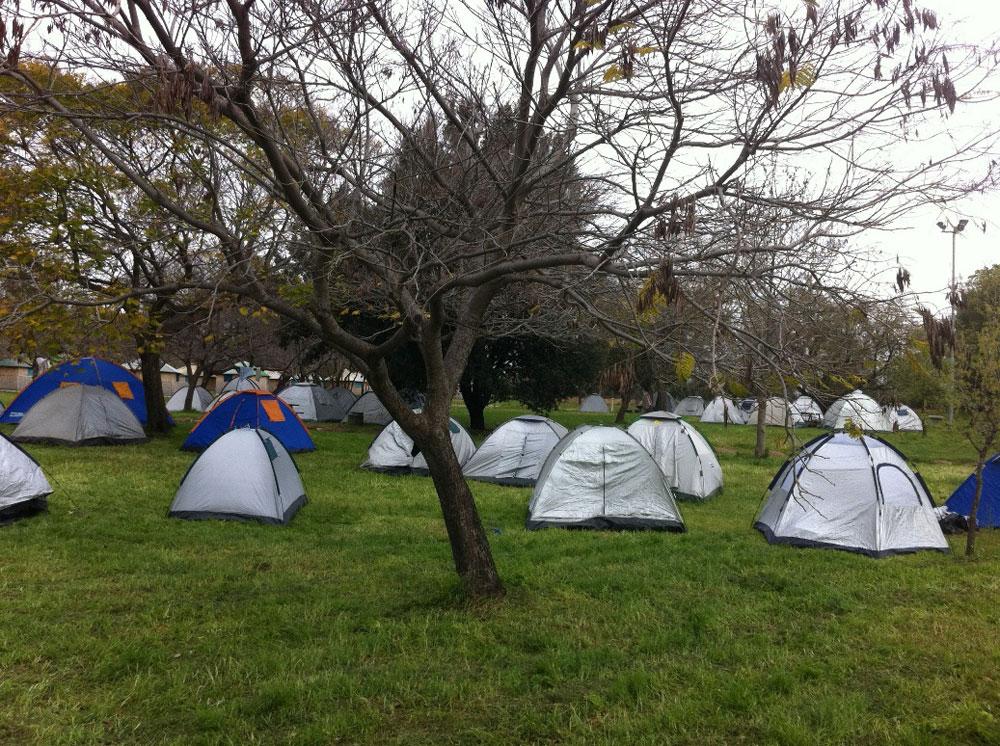 קמפינג בפארק הירדן. מנוחה פסטורלית לקול זרימת המים (צילום: שמוליק חזן, רשות הטבע והגנים)