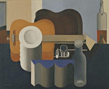 Nature Morte. ציור של לה קורבוזיה (1920), מתוך התערוכה (צילום: 2013 Artists Rights Society , New YorkADAGP, ParisFLC)