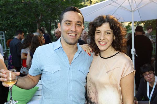 אנחנו הקהל. יונתן ריגר ואשתו מיכל (צילום: רפי דלויה)