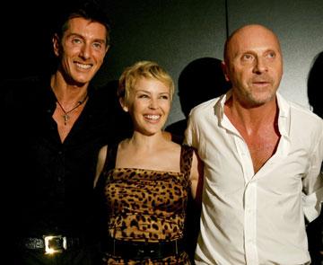 קיילי עם דולצ'ה וגבאנה, 2006. שיתופי פעולה פוריים (צילום: gettyimages)