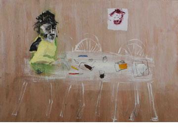 יאיר פרץ מחבר בין הציורים שלו לעבודתו כמטפל. ''ארטפורט''