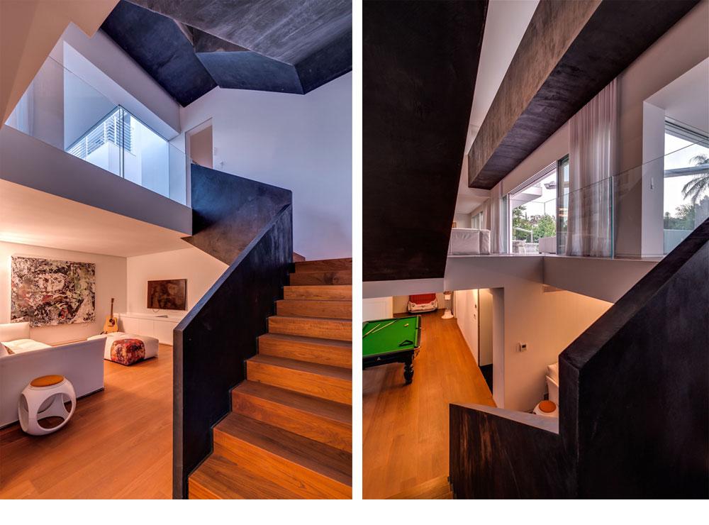 במרתף סלון נוסף, יחידת אירוח, חדר הקרנה ביתי וחללי בילוי נוספים (צילום: איתי סיקולסקי)