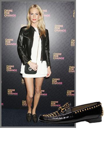 פופי דלווין משוויצה בנעלי הגוצ'י המגניבות שלה (מחיר: 4,000 שקל) (צילום: gettyimages)
