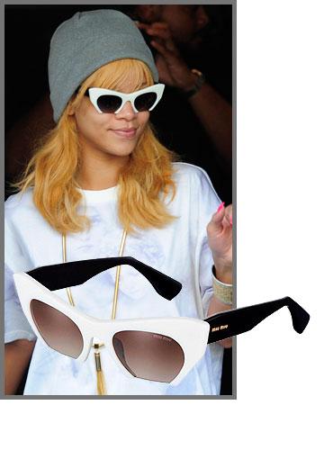 ריהאנה במשקפי מיו מיו שהיינו הורגות בשבילם (1,500 שקל) (צילום: splashnews/asap creative, אבי ולדמן)