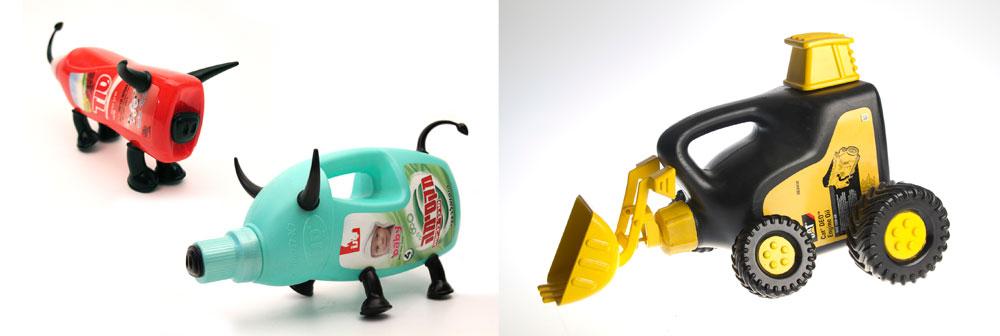 ואי-אפשר בלי עוד פסולת לסיום: דוד טל הכין סדרת צעצועים ססגונית, שמוכיחה מה אפשר לעשות עם ג'אנק (צילום: שלהבת אדוה)