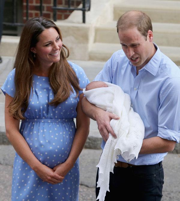 ההטבלה מתקרבת. הנסיך ג'ורג' עם הוריו בשבוע שעבר (צילום: gettyimages)