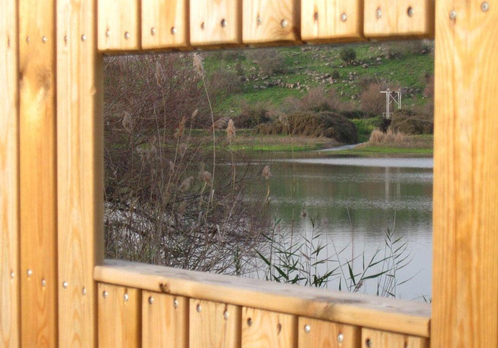 חלונות הצצה על שפת מאגר הטאפליין (צילום: אריאלה אפללו)