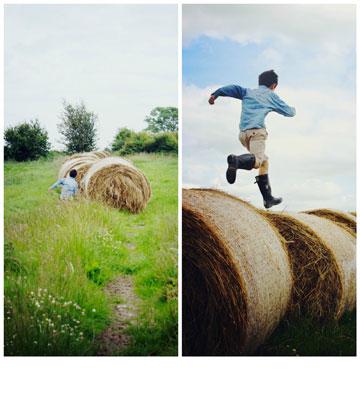 מהעיר לכפר. בנה של איימן מתרוצץ בחווה (צילום: Imen McDonnell)