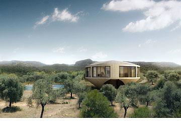 טבעת משקיפה. הבית של KGDVS (Courtesy of Architecture de Collection)
