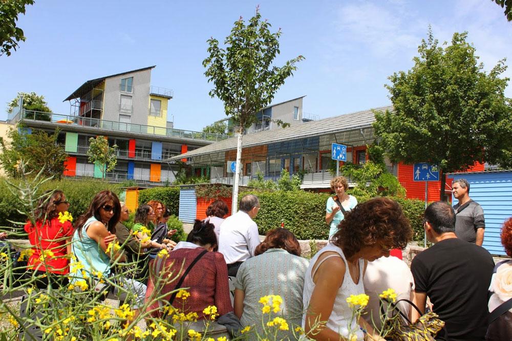 שכונה ירוקה, שכונה למען התושבים. ואובן שבעיר פרייבורג, גרמניה (צילום: ליטל כרמל)