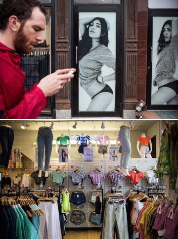בייסיק ובחורות מעורטלות. חנות של אמריקן אפרל (צילום: gettyimages)