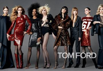 ג'יג'י חדיד, אלה ריצ'רדס, יאיא דקוסטה, לידיה פוקס, אשלי גוד  ודוגמניות נוספות בקמפיין הנשים של טום פורד