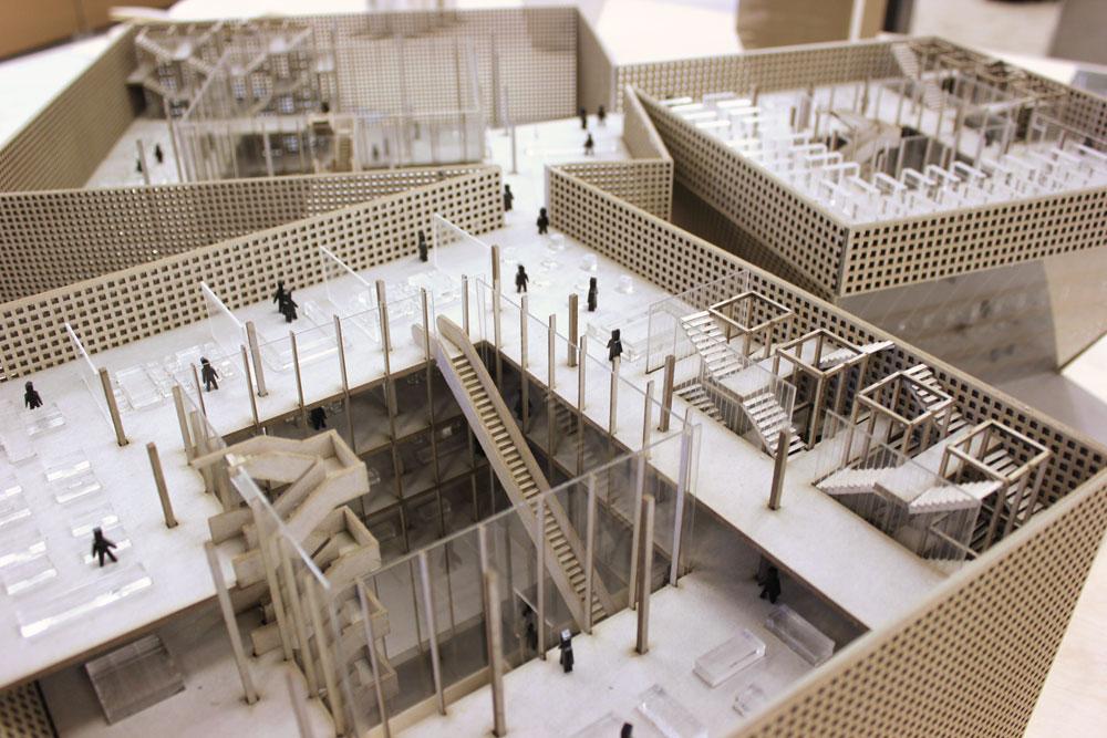"""""""נווה שיקגו"""", פרויקט הגמר של אלון שריג וניר שוויקה. בסיס צבאי מסוג חדש (באדיבות המחלקה לארכיטקטורה בצלאל )"""