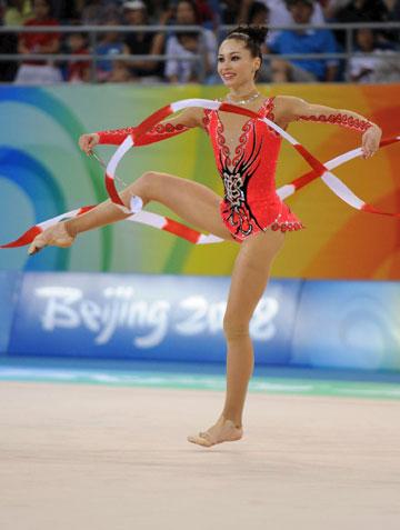 אירה ריסינזון ב־2008. שיא באולימפיאדת בייג'ין (צילום: ראובן שוורץ)
