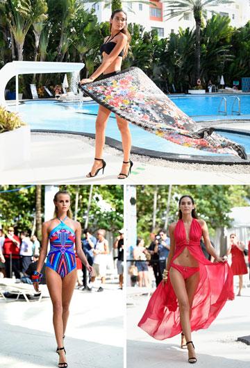 """תצוגת האופנה של גוטקס בשבוע בגדי הים במיאמי. """"שוק בגדי הים הוא שוק לא פשוט, עם תחרות גדולה. המחיר הוא הקובע"""" (צילום: gettyimages)"""