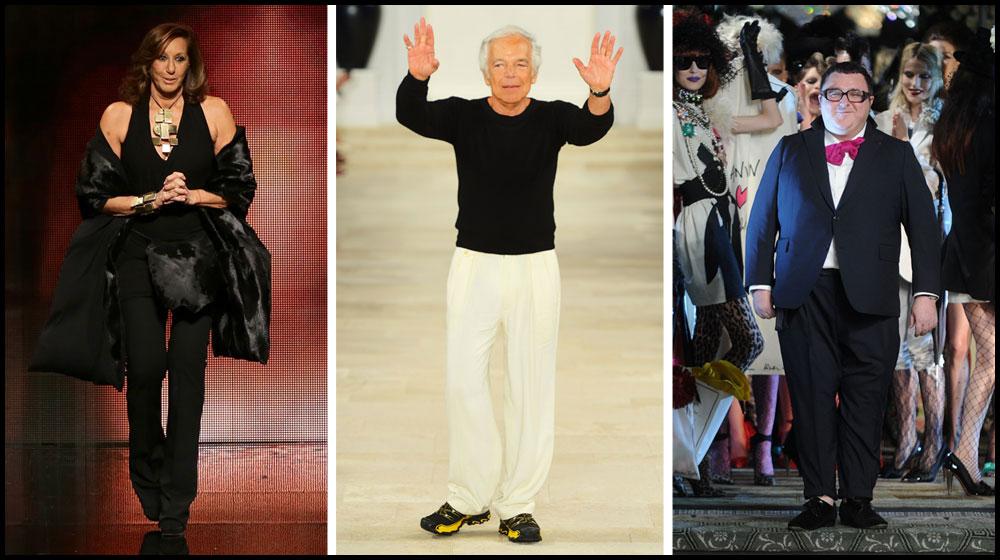 אלבר אלבז, ראלף לורן ודונה קארן. אופנה היא חלק בלתי נפרד ממורשת העם היהודי (צילום: gettyimages)