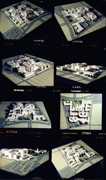 צילומי המודלים של בית החולים שיפא (צילום: רן ארדה, אוסף גרשון צפור, ארכיון אדריכלות ישראל)