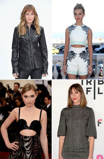 כוכבות נוספות ברשימה של גלאמור: דקוטה ג'ונסון, ניקולה פלץ, ג'יה קופולה ואימוג'ן פוטס (צילום: gettyimages)