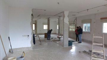 בשיפוץ נהרסו מרבית הקירות (צילום: ספארו אדריכלים)