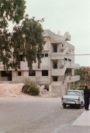 בזמן הבנייה (צילום: גרשון צפור, אוסף גרשון צפור, ארכיון אדריכלות ישראל )