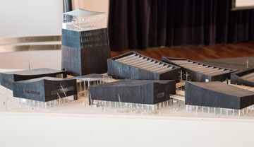 מודל של ההצעה הזוכה. עלות הבנייה מוערכת ב-130 מיליון יורו (צילום: Riitta Supperi)