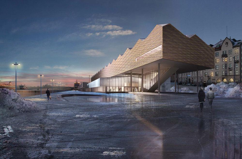 הצעה שעלתה לגמר: משרד אמריקאי-שווייצרי תכנן בניין המורכב משני חלקים - האחד לתערוכות, האחר להתכנסויות (הדמיה: agps architecture)