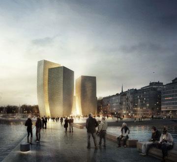 ההצעה הגרמנית: מוזיאון שצומח לגובה (הדמיה: הלסינקי HaasCookZemmrich STUDIO2050)