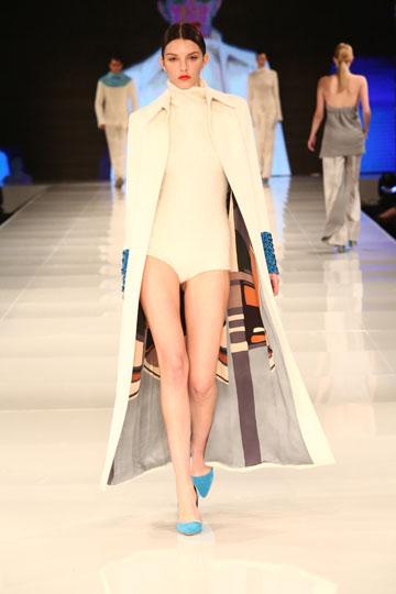 מתוך התצוגה של שי שלום בשבוע האופנה בתל אביב בשנה שעברה (צילום: אורית פניני)