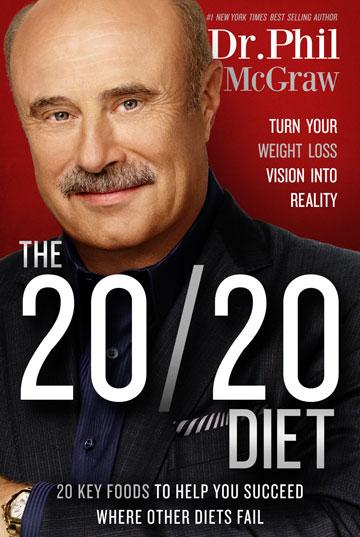 """עטיפת ספרו של ד""""ר פיל  """"דיאטת 20/20, הפכו את חלום הירידה במשקל למציאות"""""""
