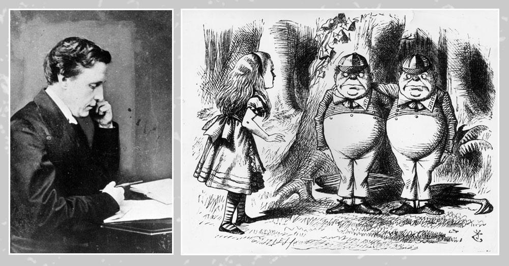 """לואיס קרול ואיור מתוך ספרו """"אליס בארץ הפלאות"""" (צילום: gettyimages)"""
