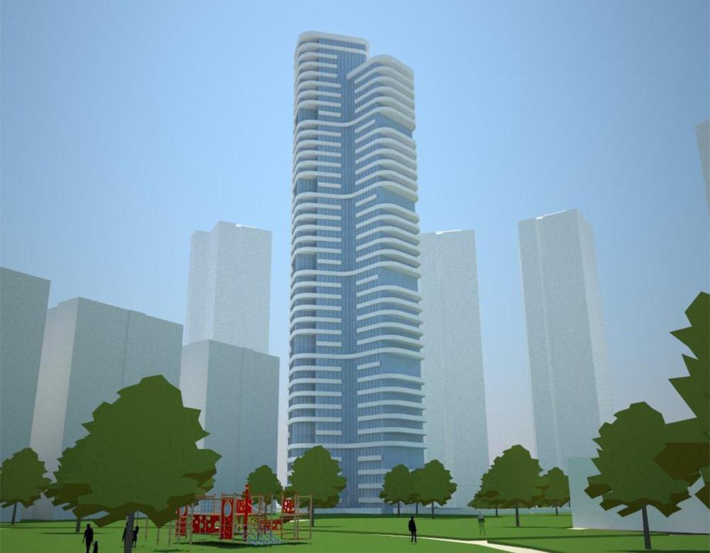לשכנים יש אפשרות להתנגד עד 6.9 לתוכנית המבוקשת: מגדל בן 45 קומות בדרום רחוב פעמוני, בואכה גשר ההלכה. האדריכלית המתכננת: ''השכונה מרוויחה ממגדל אחד''