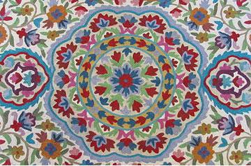 שטיח של אמן קשמירי שיובא לארץ