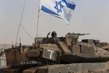 טנק ישראלי במבצע צוק איתן (צילום עמית שאבי)