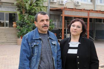 """עם בעלה מיכאל. """"הודעתי למשפחה שאני מאוהבת ואנחנו לא טסים לשום מקום"""" (צילום: ישראל יוסף)"""
