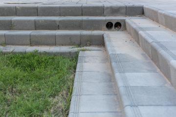 """אחד ה""""לימנים"""" בשכונה החדשה. """"רצינו דשא, בשביל הילדים"""" (צילום: אלי סינגלובסקי)"""