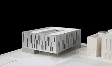 דגם של הבניין (תכנון: חיוטין אדריכלים)