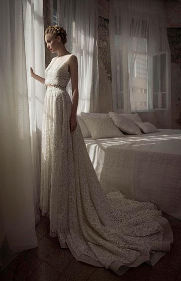 שמלה של ליהי הוד ביריד כלות חכמות. 50-30 אחוז הנחה (צילום: עדו לביא)