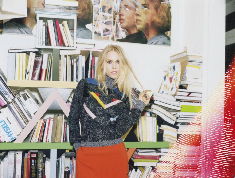 הפכה לדוגמנית בזכות איזבלה בלאו. ליידי מרי צ'ארטריס בקמפיין החדש של אייסברג (צילום: OLIVIER ZAHAM)