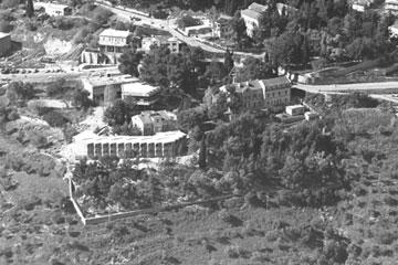 """גם העצים ישומרו. מתחם בית בוסל בעבר (צילום: משה מילנר, לע""""מ)"""
