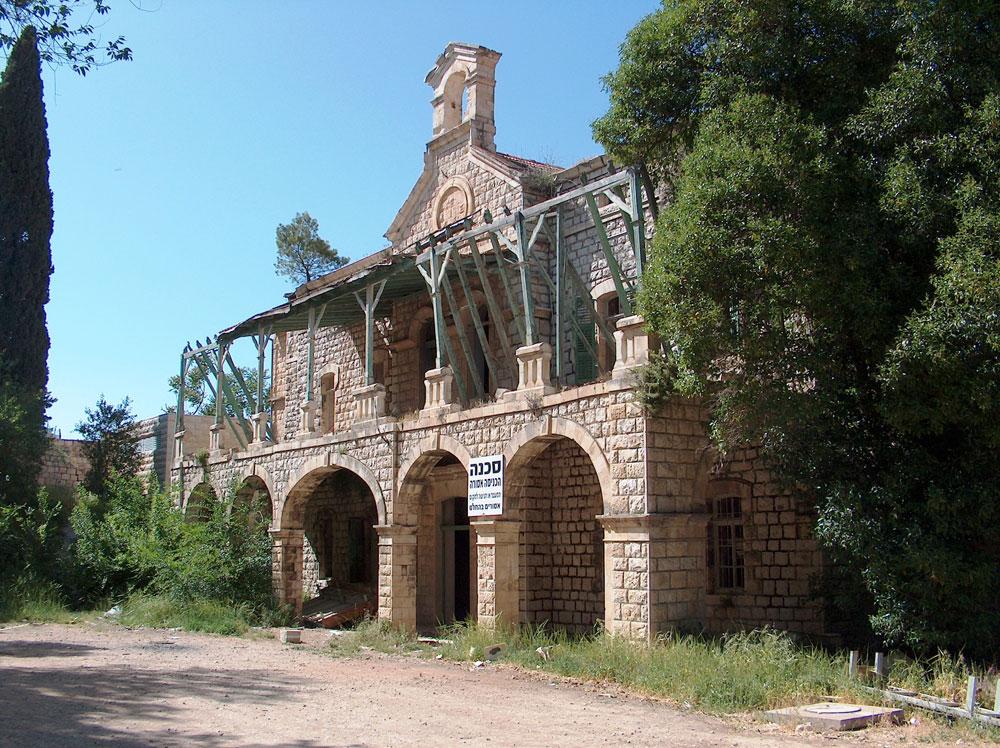 בית החולים המיסיונרי, אחד המבנים ההיסטוריים שמרכיבים את מתחם בית בוסל ויעברו שימור (צילום: מיכאל יעקובסון)