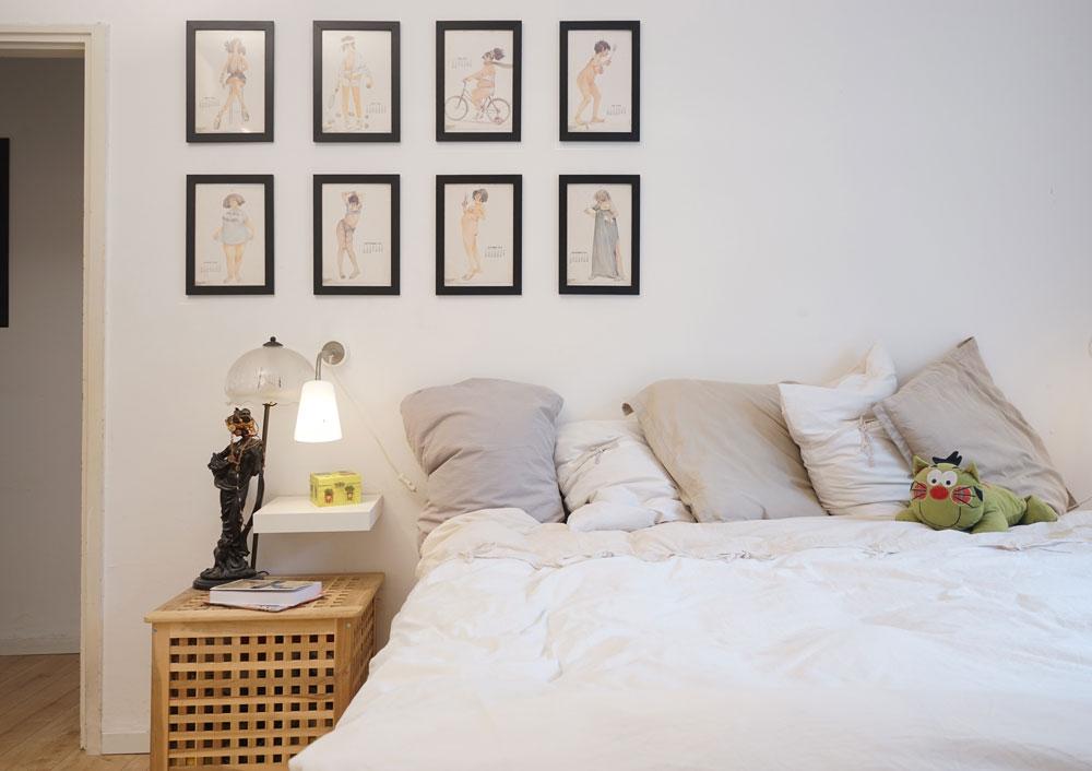 חדר ההורים. כאן היו קודם שני חדרי שינה קטנים (צילום: נועם דוד-סטודיו גלימפס)