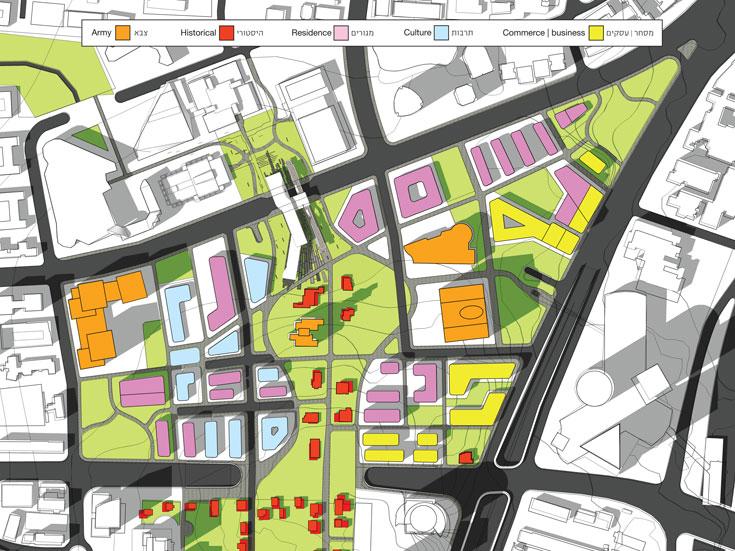 מפת אזור הקריה מתוך פרויקט הגמר של אלישע יניב (הדמיה: אלישע יניב)