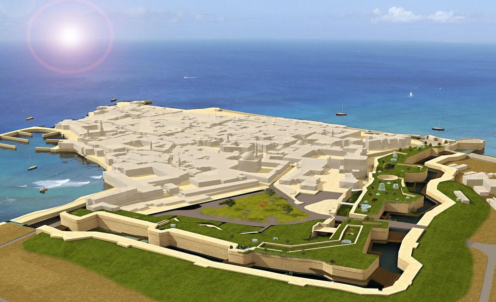 להציל את עכו: הפיכת החומה, המנתקת את העיר העתיקה מהעיר החדשה, לגורם מאחד שמשדרג את העיר כולה. הפרויקט של הדר רוטשילד (הדמיה: הדר רוטשילד)