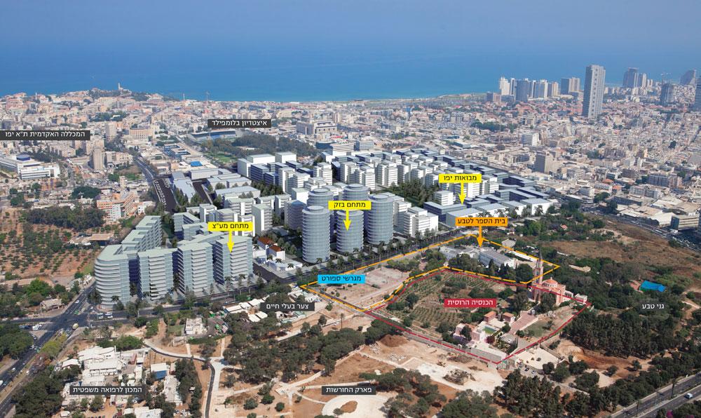 עמרי רון מציע לשנות את פניו של בית הספר לטבע בדרום תל אביב, כך שישרת את כל האוכלוסייה ויפסיק להסתגר מאחורי גדרות וחומות (הדמיה: עמרי רון)