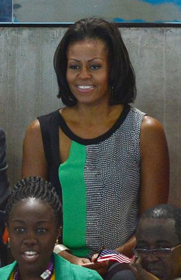 מישל אובמה. הגיעה לתמוך בנבחרת ארצות הברית (צילום: rex / asap creative)