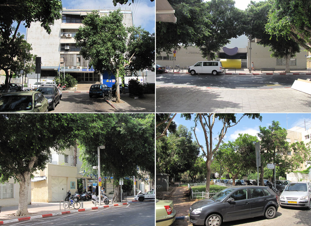 המשטרה (גם חסמב''ה פעלה מכאן, בסיפוריו של מוסנזון) ורחוב מוצקין השקט מאחוריה. תנועת כלי הרכב תגבר (צילום: נעמה ריבה)