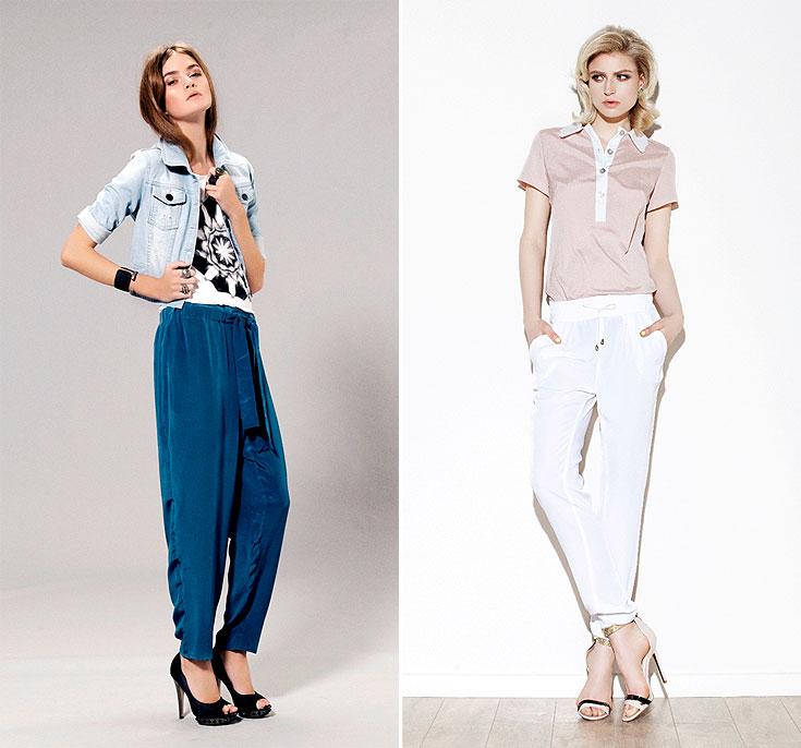 מכנסיים בקולקציות הקיץ של HDL דפנה לוינסון (מימין) ו-Gestuz ב-Inn7Out. גם ארוכים, גם דקיקים (צילום: גל טוביהו, גורן ליובנציץ)