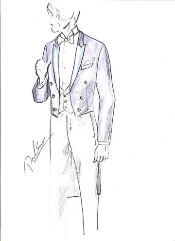 שתי חליפות של דיויד ששון ליהודה לוי. ''אני רואה בעיני רוחי את החתונה של וויליאם וקייט'' (איור: דויד ששון)